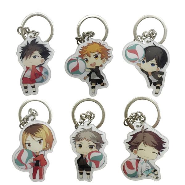 volleyballkeychain, Key Chain, Keys, karasuno