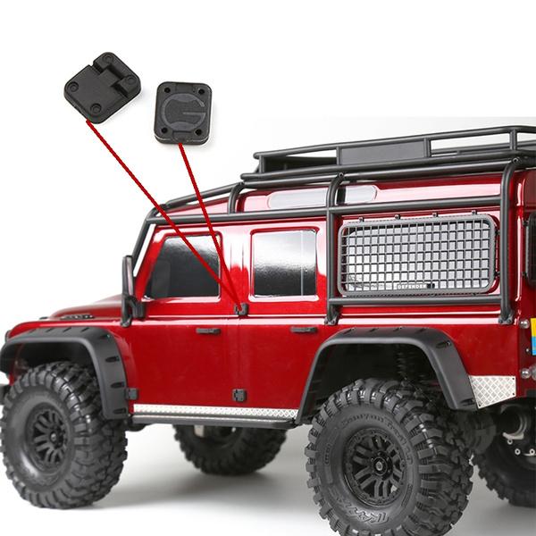 Color: Option 1 Vehicles-OCS GRC TRX4 T4 D90 D110 Door Hinge Door knob RC Racing Spare Parts Vehicles-OCS