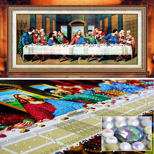 Diamond Embroidery Painting Last Supper Religious 5D Diamond Mosaic Wall Decor