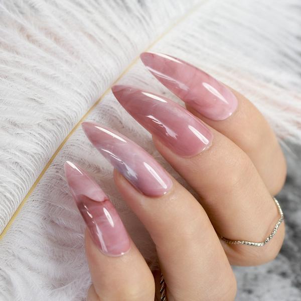 pink, Nails, acrylic nails, Makeup