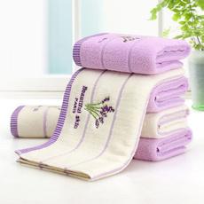 cottontowel, embroiderytowel, Towels, lavendertowel