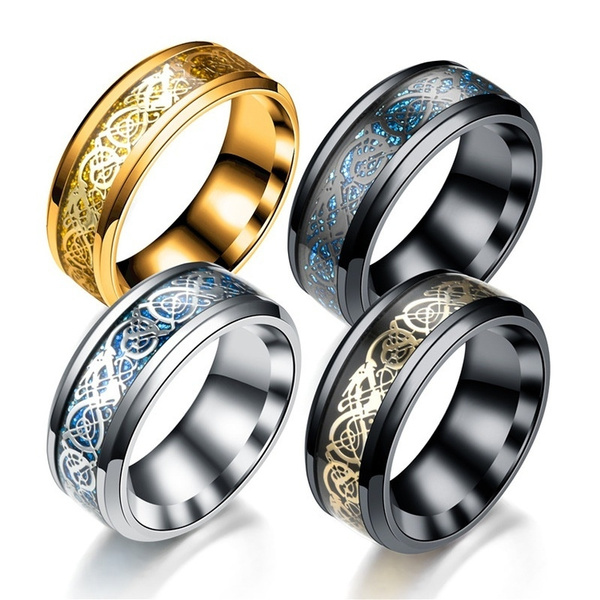 Steel, blackgoldring, Fashion, Jewelry