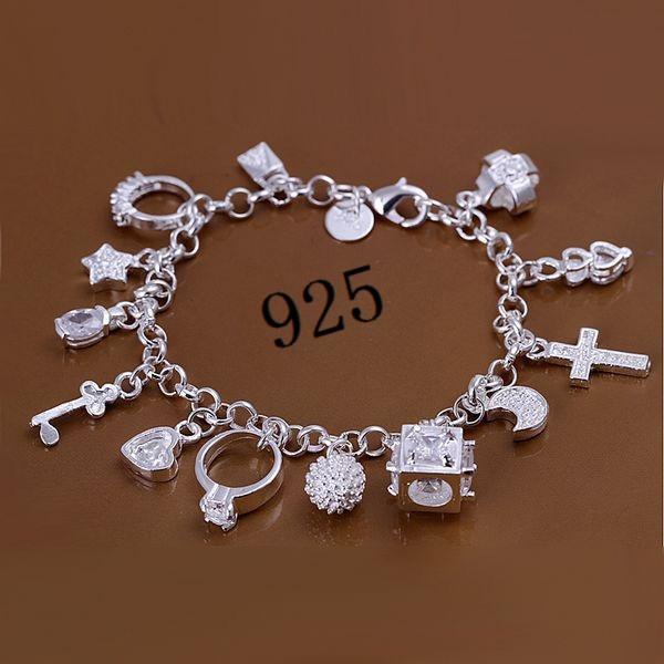 Sterling, Fashion, sterling silver, pendantbracelet