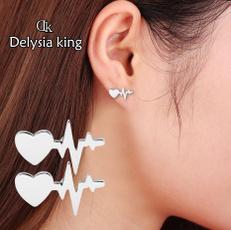 Heart, Jewelry, Gifts, electrocardiogramearring