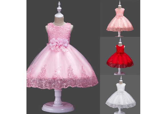Flower Girl Dress Princess Wedding Birthday Holiday Party Bridesmaid Prom ZG9