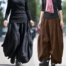 longtrouser, hose, cottonpant, high waist
