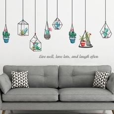 windowdecal, cute, Home Decor, plantswallsticker