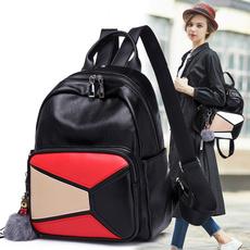 Fashion, one-shoulder, leather, Backpacks