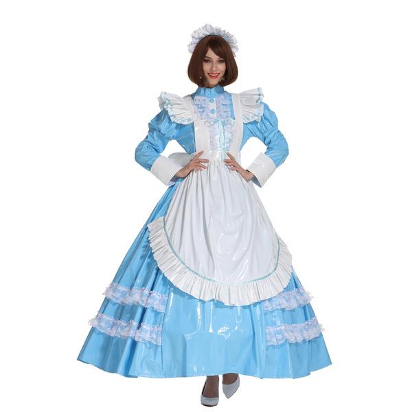 Blues, Cosplay, sissybabybluedres, long dress