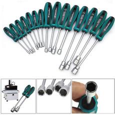 Sockets, Tool, Metal, Screwdriver