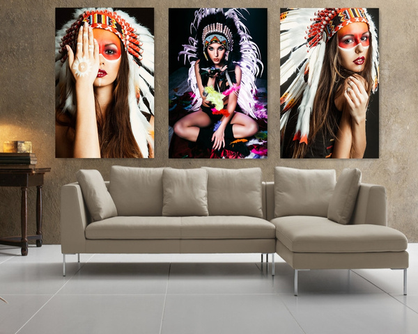 Decor, art, nativeamerican, featherpainting