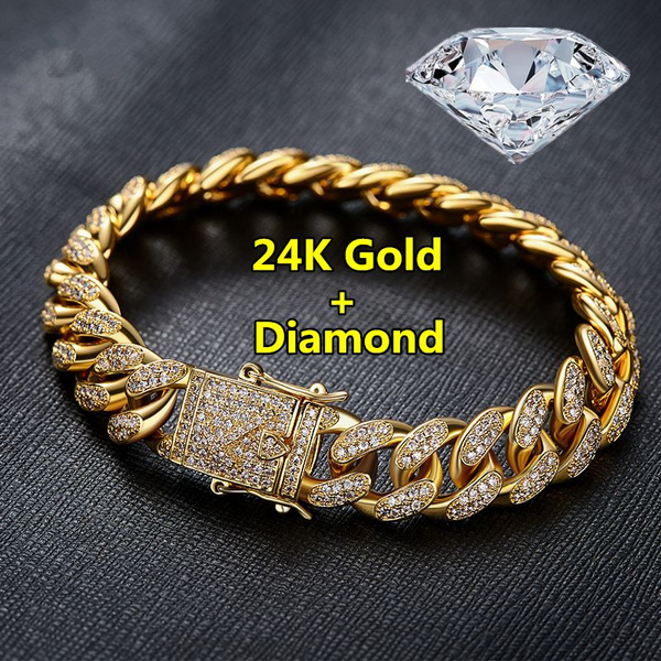 diamond cuban bracelet