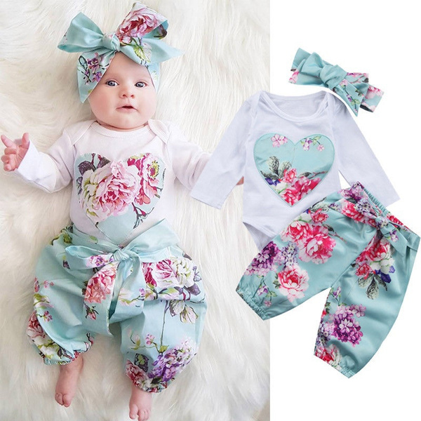 Floral, newborngirloutfit, pants, babygirlclothe