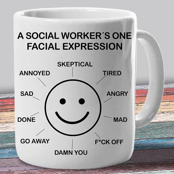Funny, socialworkerfunnymug, socialworkstudcup, Gifts