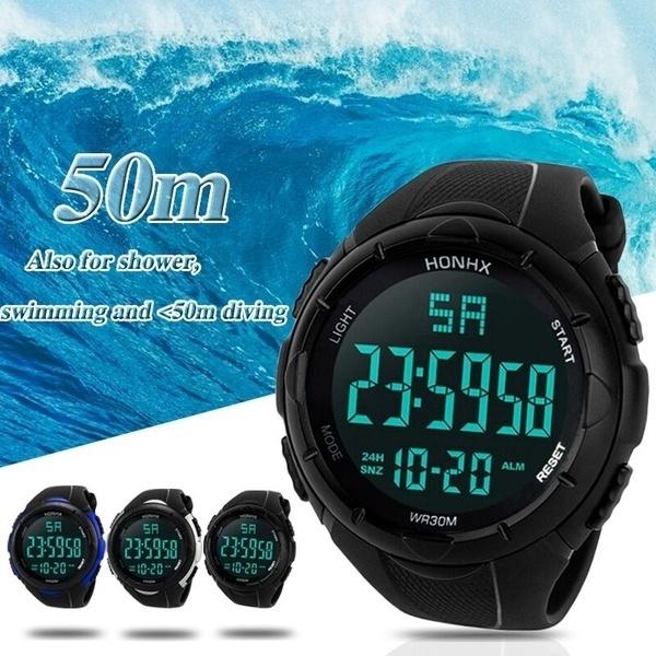 LED Watch, Men, led, Waterproof Watch