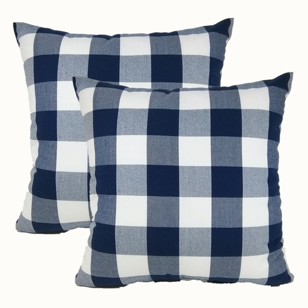 Blues, chaircushioncover, checkered, sofacushioncover