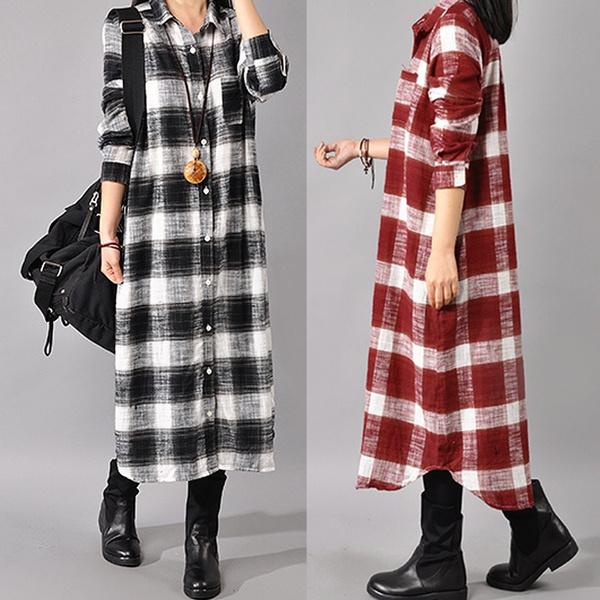 Plus Size, Spring/Autumn, Long Sleeve, Shirt