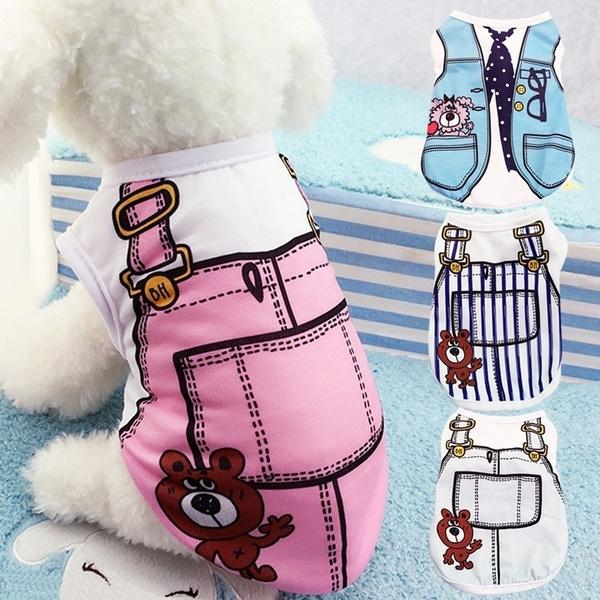 Cotton, Summer, Vest, pet clothes