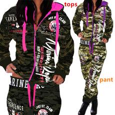 Fashion, womencamouflagesuit, pants, sweatpantsforwomen