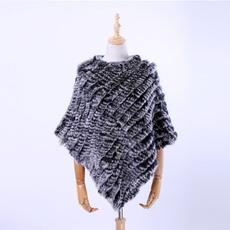 Triangles, fur coat, shawl and wraps, fur