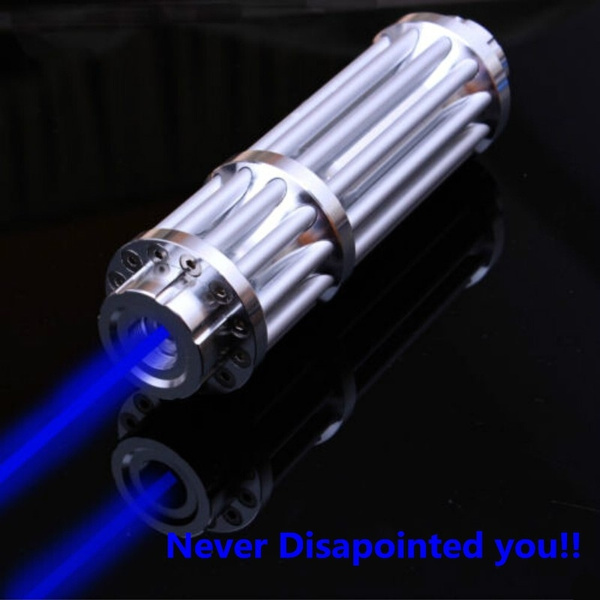 Powerfull 450nm Focus Visible Blue Beam Laser Pointer Pen Laser Torch