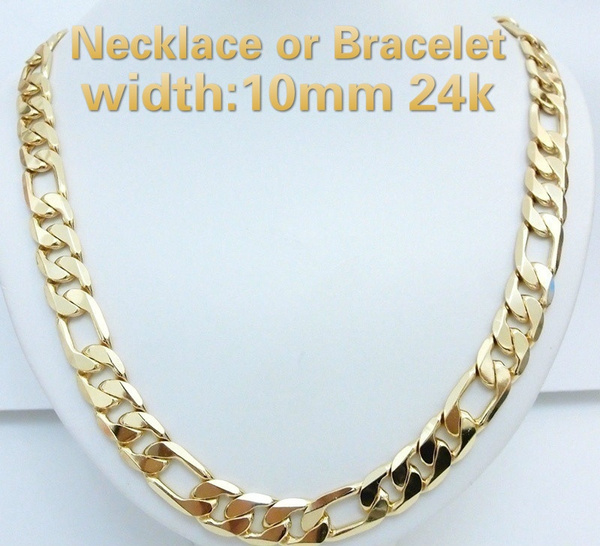 yellow gold, 24kgold, Chain Necklace, Jewelry