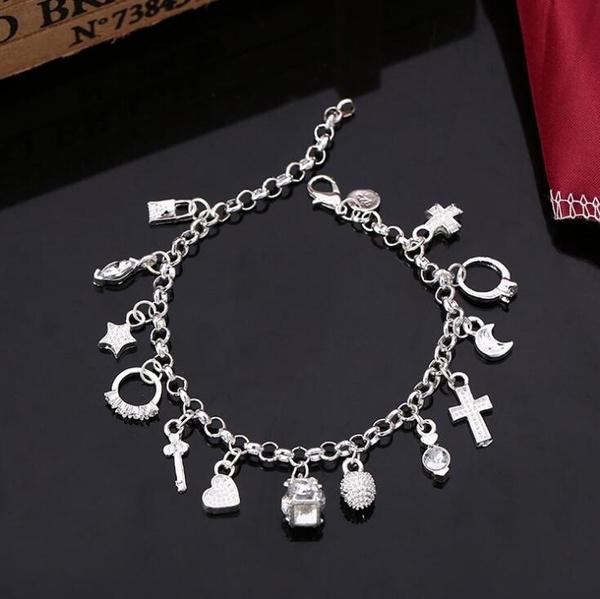 Charm Bracelet, Sterling, Fashion, sterling silver
