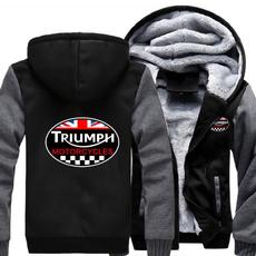 Thicken, Fleece, triumphmotorcycle, Winter