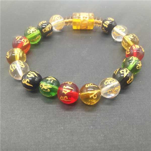 sanskritbead, Jewelry, Crystal Bracelet, buddhismjewelry