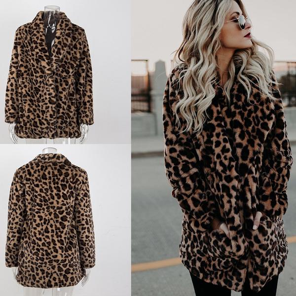 fur coat, womens coats, Jacket, leopard top