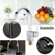 wasserhähne, schwenken, mischbatterie, küchenarmaturen