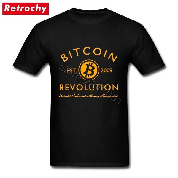 Revolution, basictee, Cotton T Shirt, bitcoin