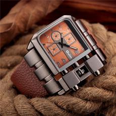 Antique, dial, quartz, leather strap