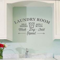 Laundry, Home Decor, Stickers, bathroomtoiletsticker