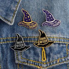 Fashion, witchbrooch, wizardbrooch, enamelbrooch
