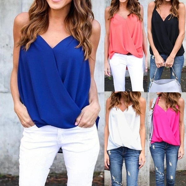 Summer, Plus Size, chiffon, tank top