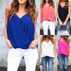 Summer, Plus Size, chiffon, casual shirt