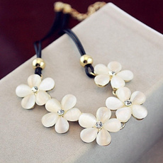 dressnecklace, Chain Necklace, Chain, flower necklace