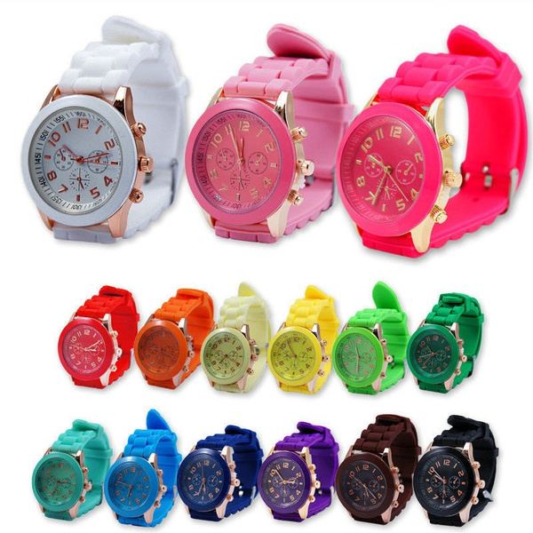 Fashion, silicone watch, Geneva, Gifts