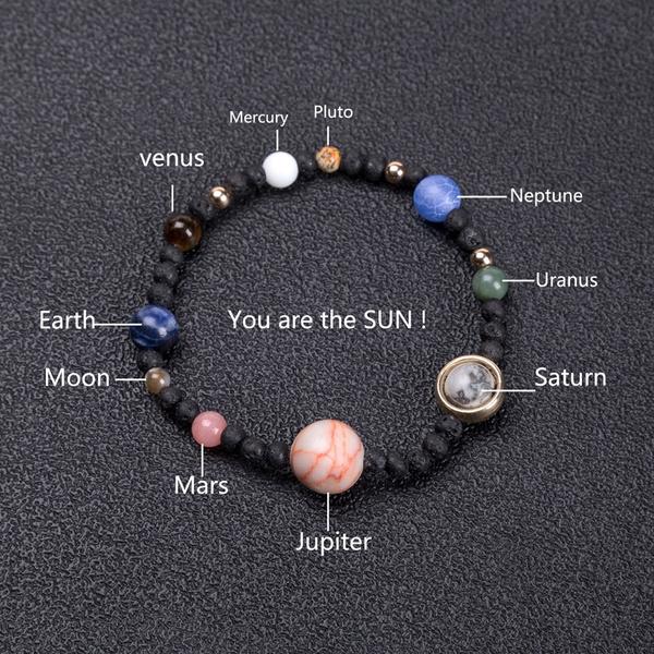 solarsystem, diybracelet, colorfulbracelet, hand made bracelets