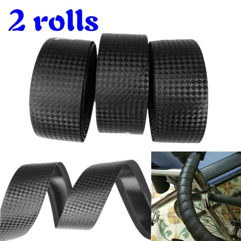 2 Cycling Cork Handlebar Tape /& 2 Rod Connectors Carbon Fibre Strap Road Bike MT