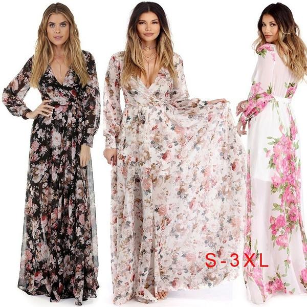 Summer, woman fashion, printeddres, chiffon