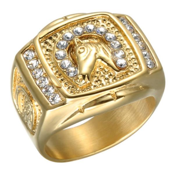 horsering, yellow gold, horse, DIAMOND