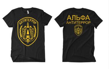 Funny, shortsleevestshirt, antiterror, Cotton T Shirt