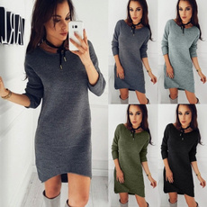 Women, Fashion, sweater dress, Winter