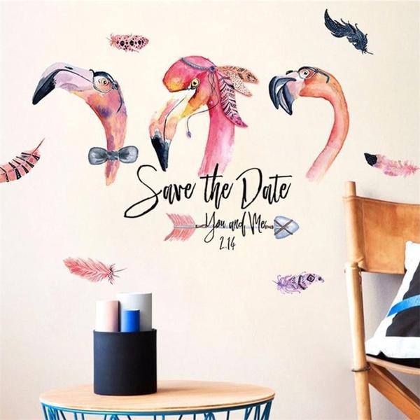 diyhomedecor, flamingo, art, Romantic