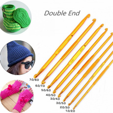 golden, knittingneedle, Home & Living, weavecraft