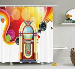 Polyester, Decor, fashionshowercurtain, showercurtainsampenclosurering