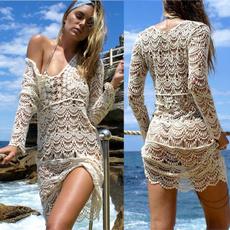 bathing suit, Dress, V-neck, Swimwear