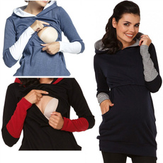 breastfeeding tops, hooded, cottonclothe, Winter